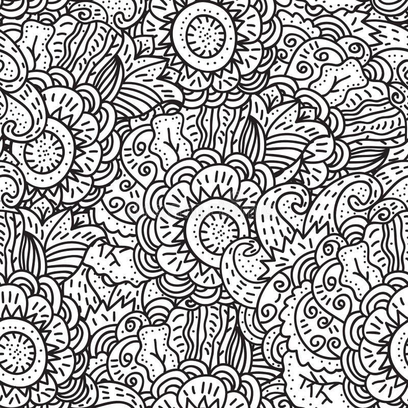 Vector naadloos patroon royalty-vrije illustratie