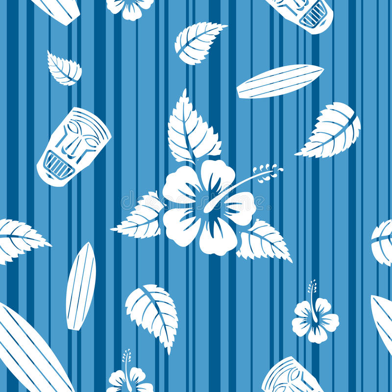 Vector naadloos Hawaiiaans patroon vector illustratie