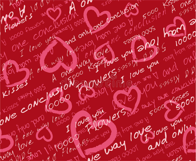 De dag naadloos patroon van de valentijnskaart vector illustratie