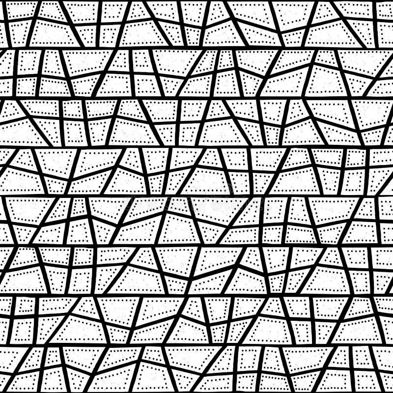 Vector naadloos inheems patroon met inbegrip van etnische Australische beweging veroorzakend met typische gestippelde elementen,  vector illustratie