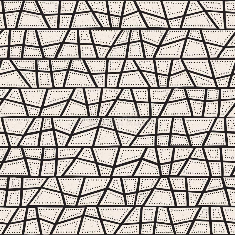 Vector naadloos inheems patroon met inbegrip van etnische Australische beweging veroorzakend met typische gestippelde elementen,  stock illustratie