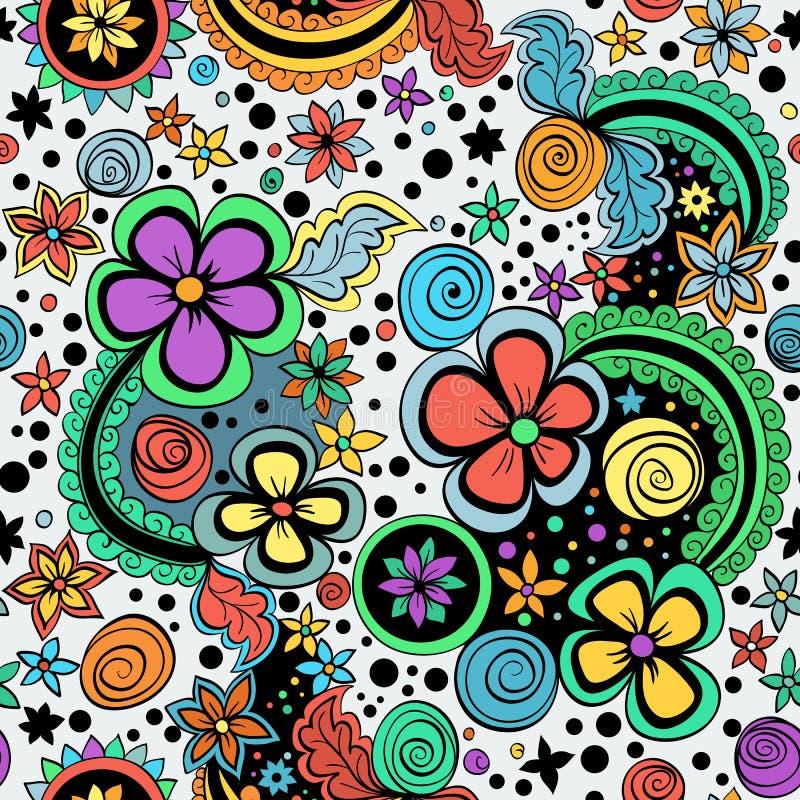 Vector naadloos kleuren bloemenpatroon vector illustratie
