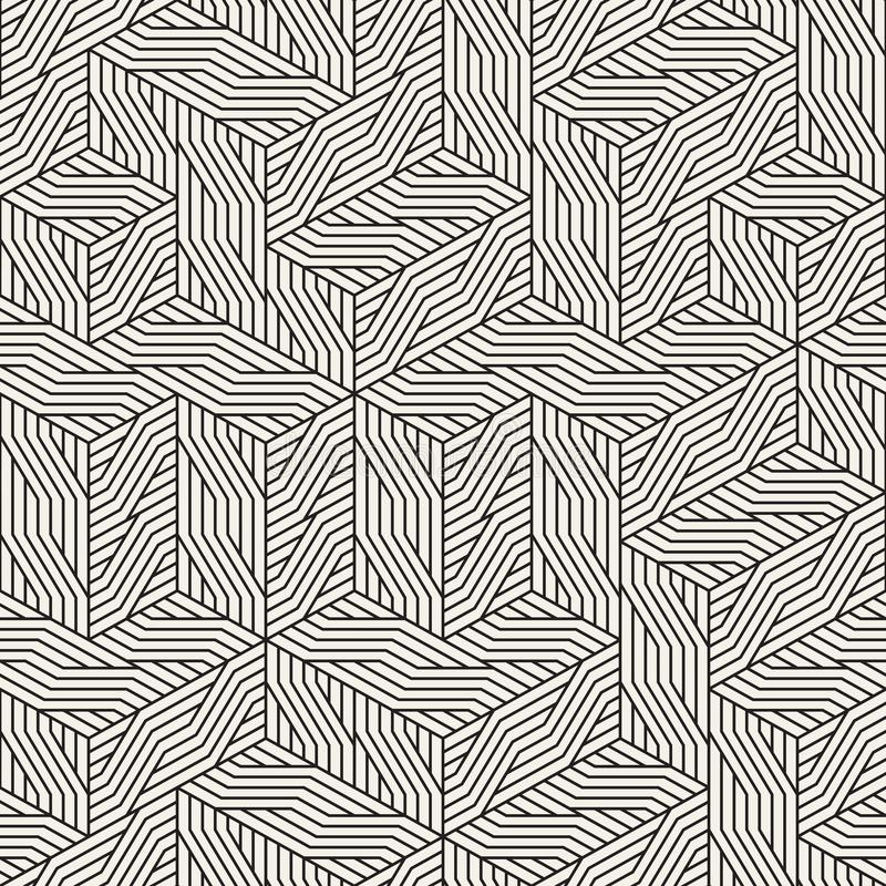 Vector naadloos onregelmatig netpatroon Moderne modieuze abstracte textuur Willekeurig herhalend geometrisch rooster van stock afbeelding