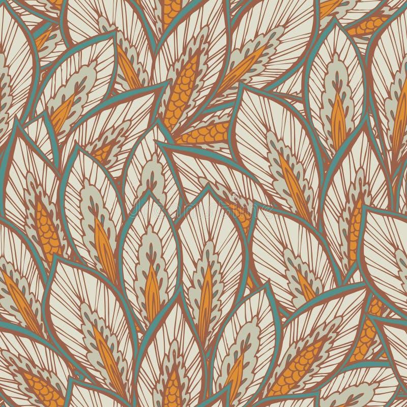 Vector naadloos oostelijk patroon. stock illustratie