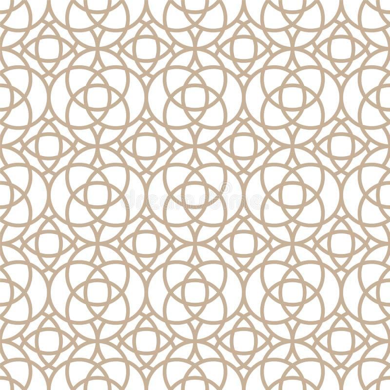 Vector naadloos orientatiepatroon - eenvoudig geometrisch ontwerp Abstract trendy oostelijk symmetrische achtergrond Creatief stock illustratie