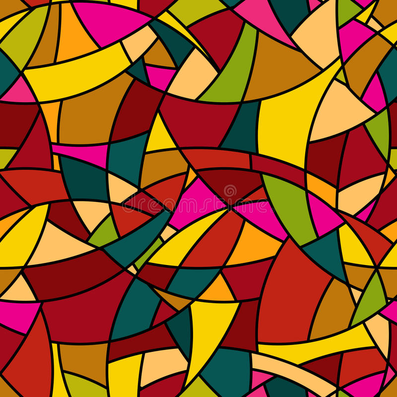 Vector naadloos patroon - abstract bevlekt mozaïek vector illustratie