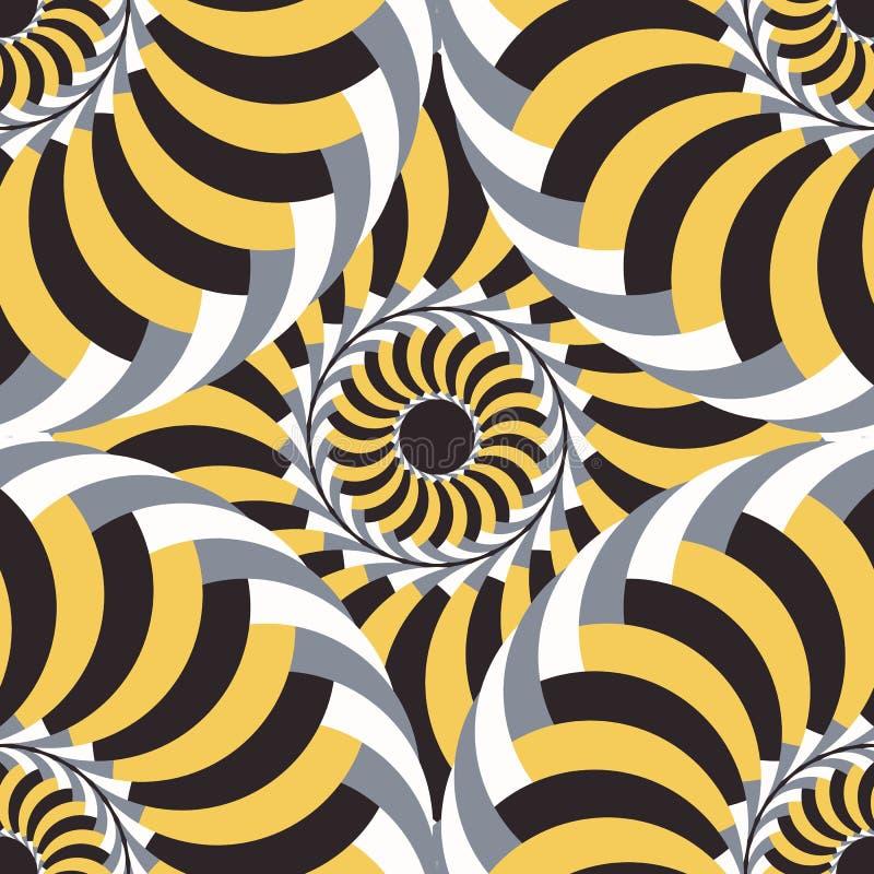 Vector naadloos patroon abstracte achtergrond stock illustratie