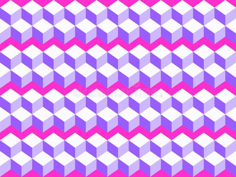 Vector naadloos patroon Abstracte 3d achtergrond stock illustratie