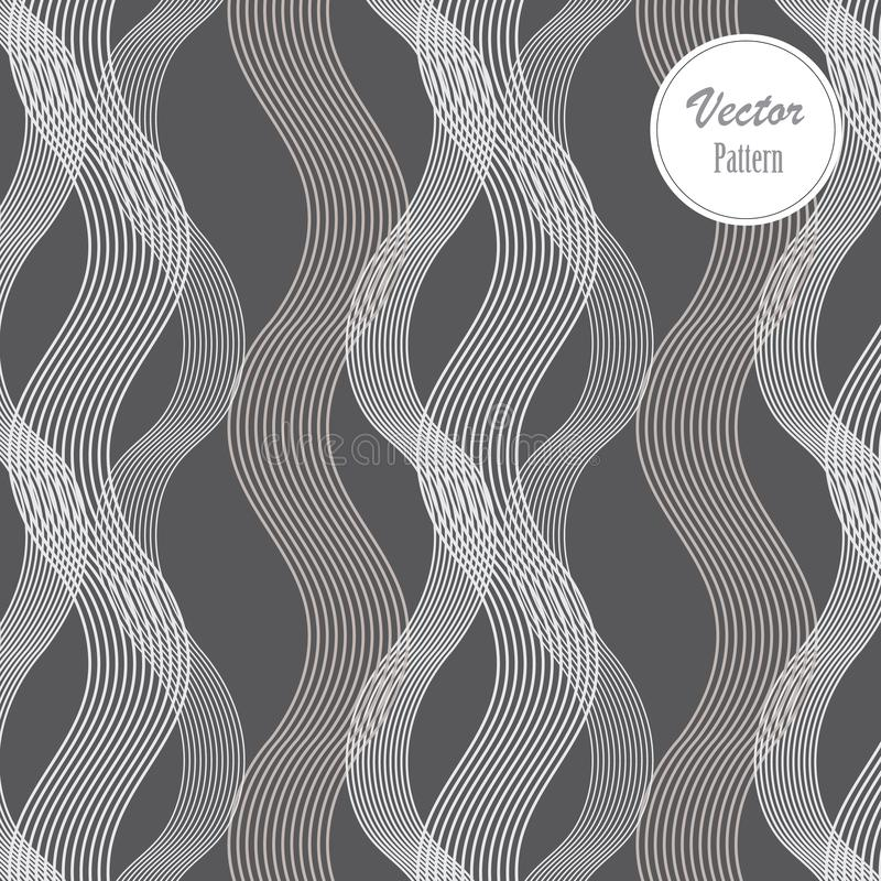 Vector naadloos patroon Abstracte modieuze achtergrond Golvend regelmatig patroon vector illustratie