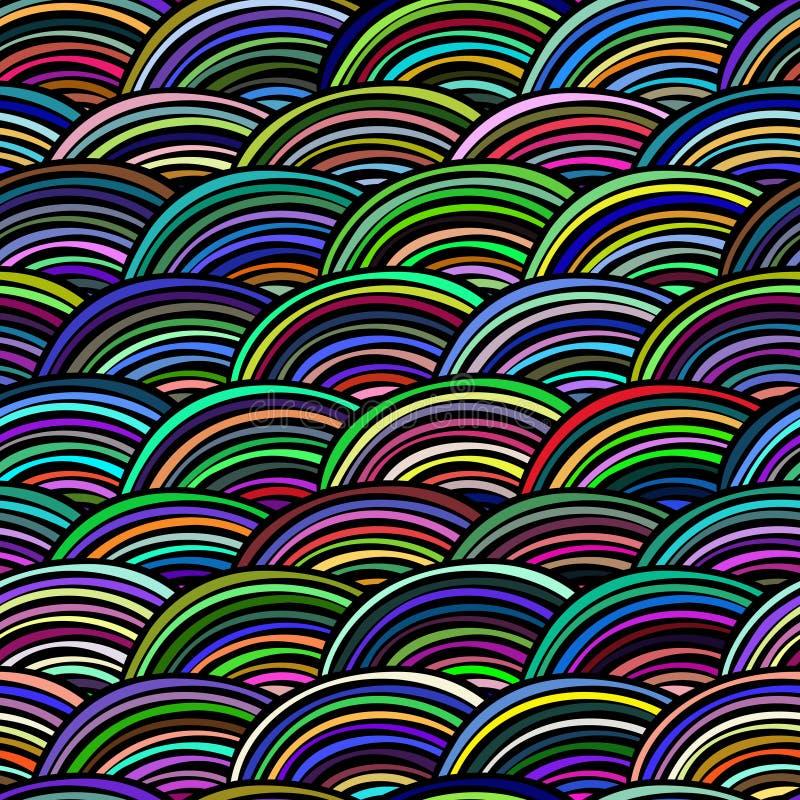 Vector naadloos patroon Decoratieve abstracte hand getrokken krabbel sier schetsmatige kleurrijke achtergrond Het herhalen van in stock illustratie