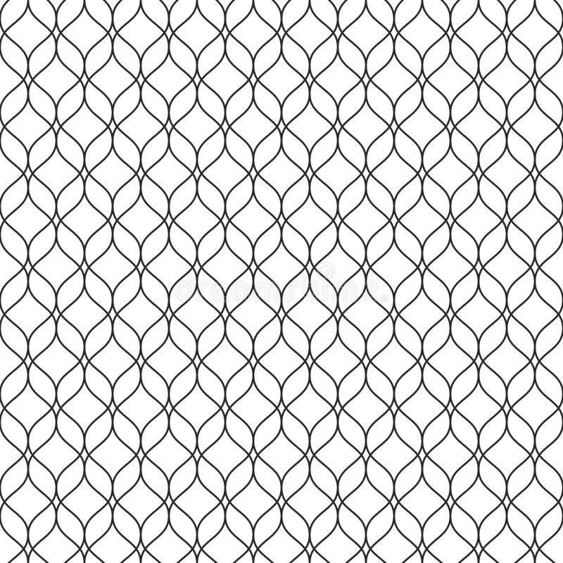 Vector naadloos patroon, dunne verticale golvende lijnen, subtiel netwerk t royalty-vrije illustratie