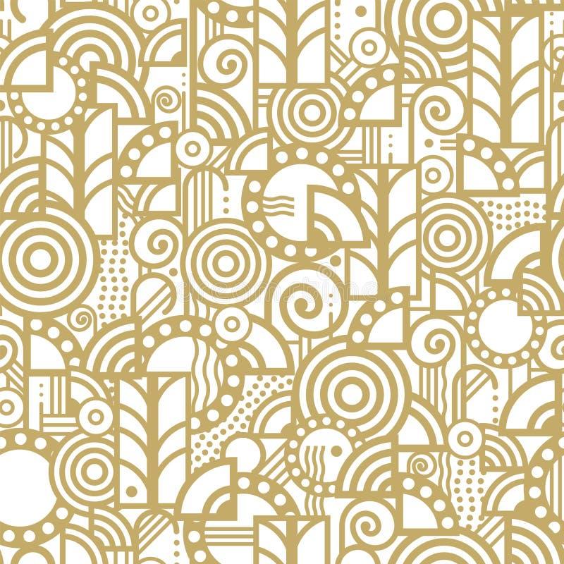 Vector naadloos patroon in een art decostijl royalty-vrije illustratie