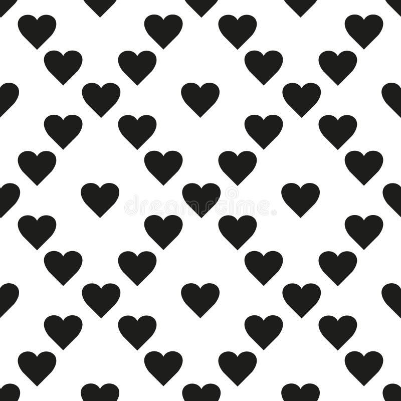 Vector naadloos patroon Eenvoudige het herhalen textuur met chaotische harten Modieuze hipstertextuur vector illustratie