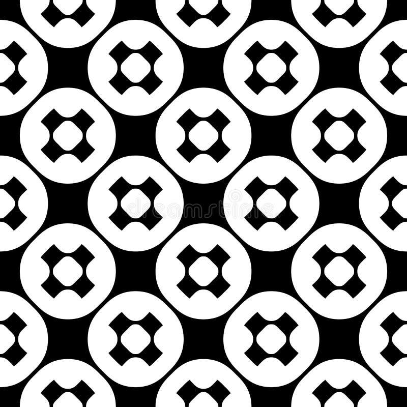 Vector naadloos patroon, eenvoudige zwart-wit minimalistische textuur royalty-vrije illustratie