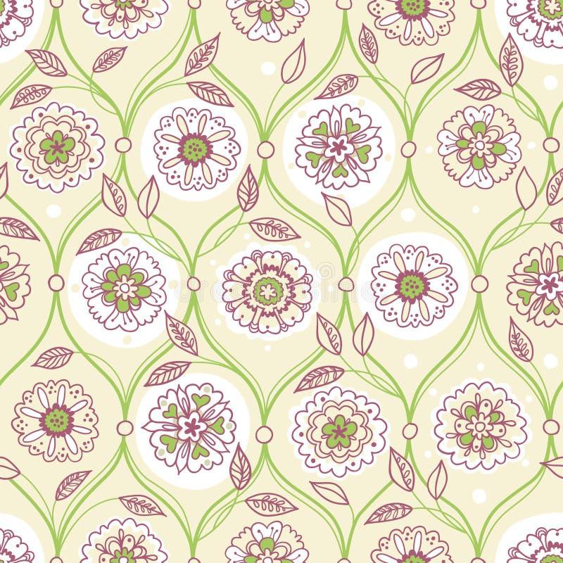 Vector naadloos patroon, filigraan bloemenachtergrond royalty-vrije illustratie