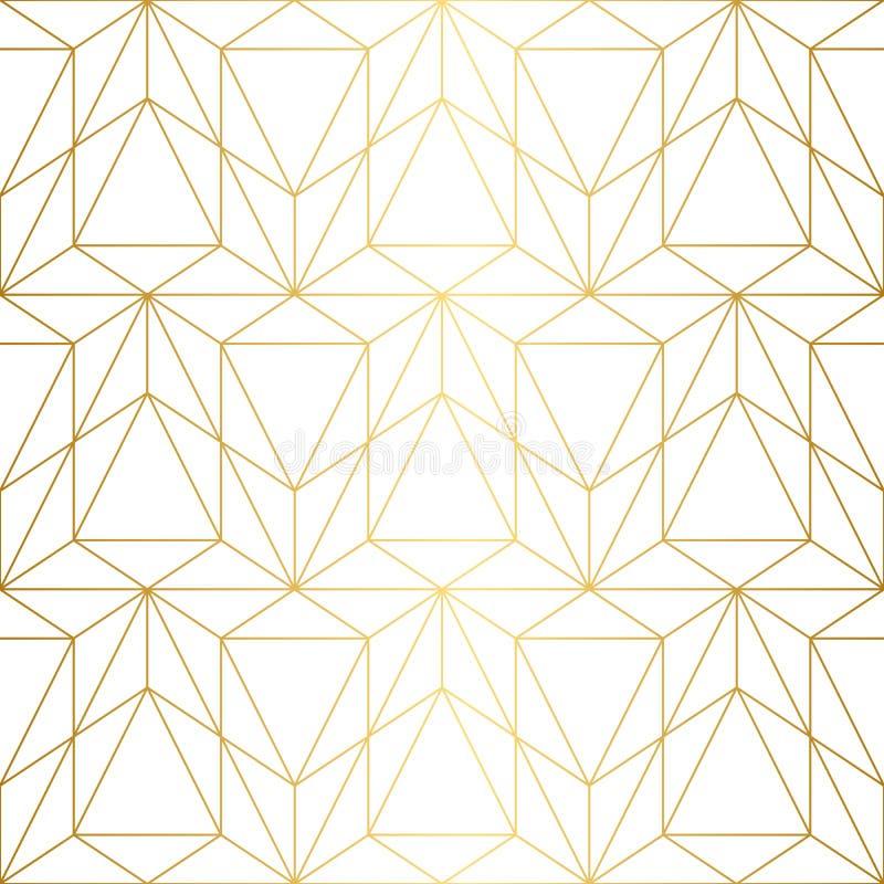 Vector naadloos patroon Geometrische achtergrond met ruit en n stock foto