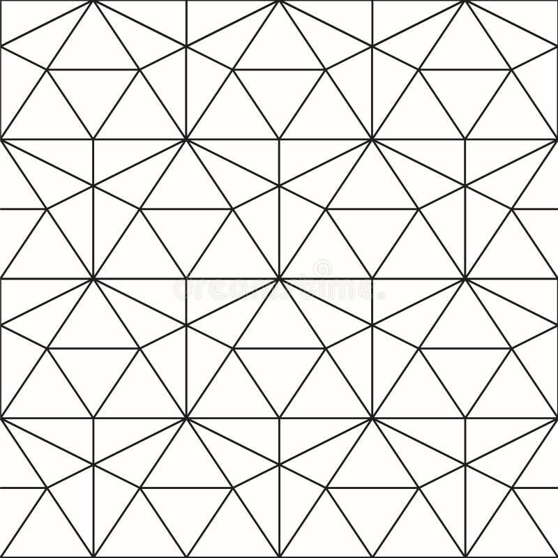 Vector naadloos patroon Geometrische achtergrond met ruit en n royalty-vrije stock fotografie