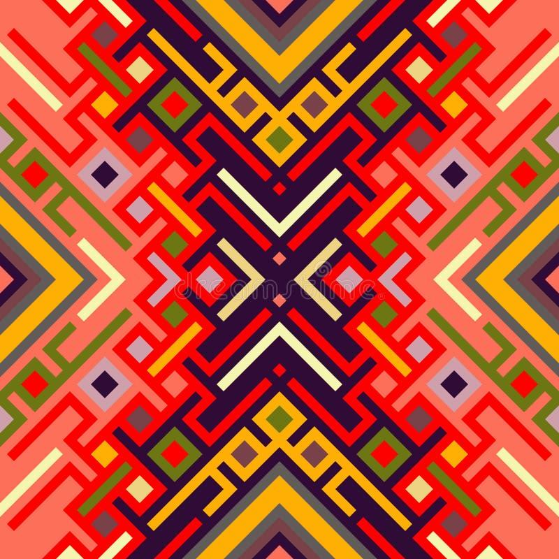Vector naadloos patroon Geometrische regenboog naadloze illustratie royalty-vrije stock afbeeldingen
