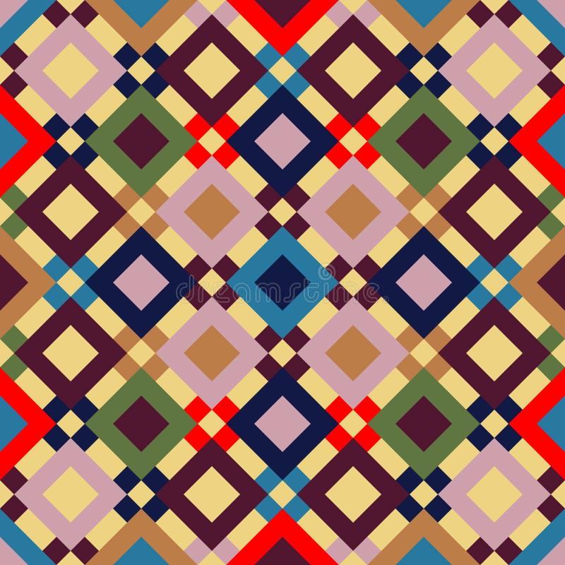 Vector naadloos patroon Geometrische regenboog naadloze illustratie stock foto's