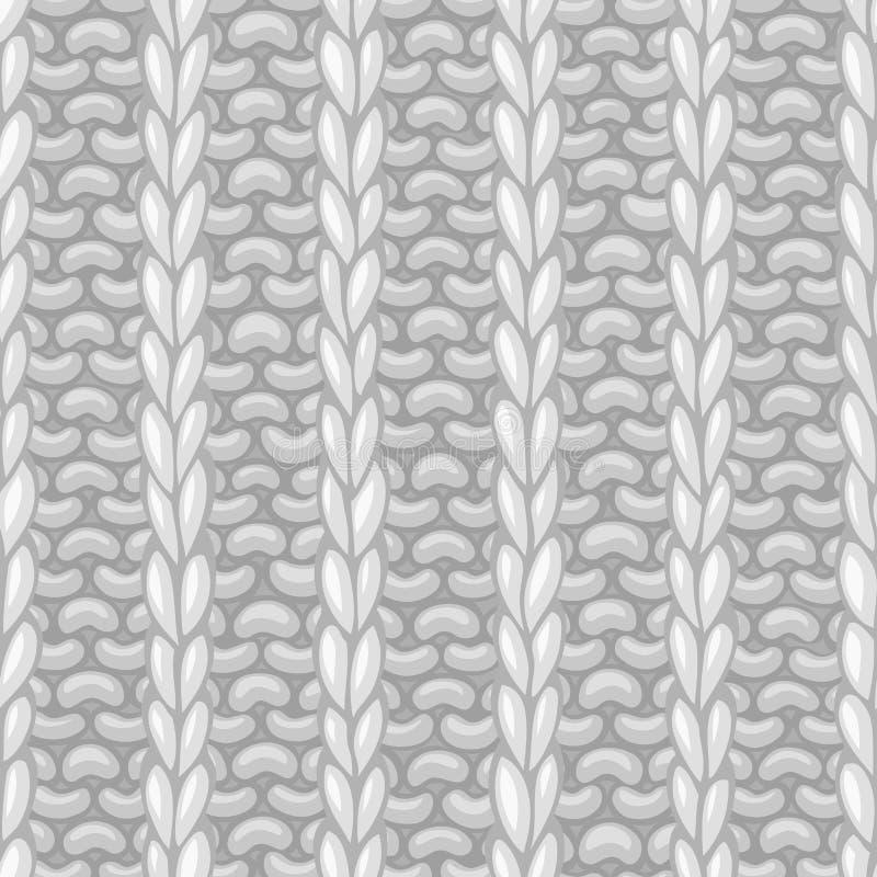 Vector naadloos patroon in het breien stijl royalty-vrije illustratie