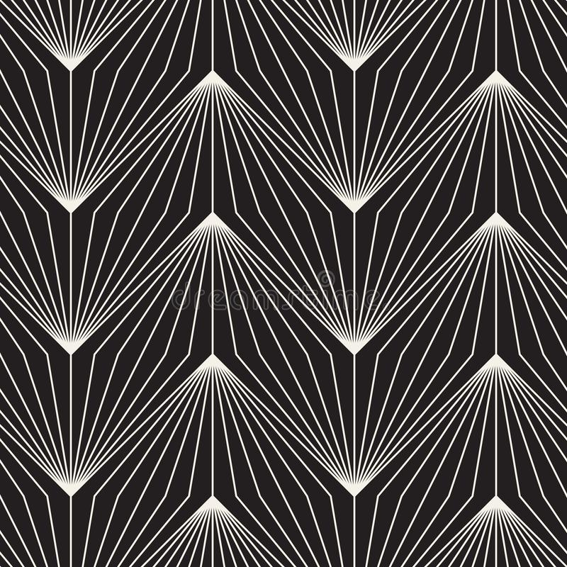 Vector naadloos patroon Het herhalen van abstracte achtergrond Zwart-wit geometrisch ontwerp moderne modieuze textuur stock fotografie