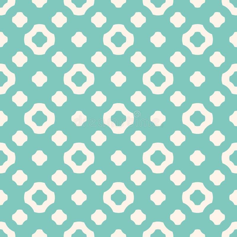 Vector naadloos patroon in in kleuren, groen aqua en beige vector illustratie