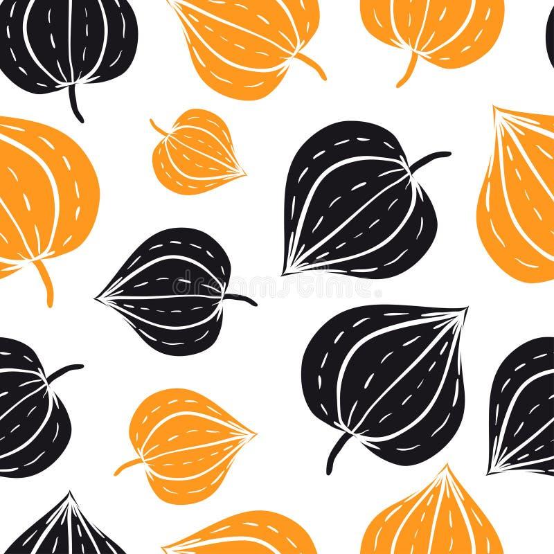 Vector naadloos patroon met bloemenelementen stock illustratie