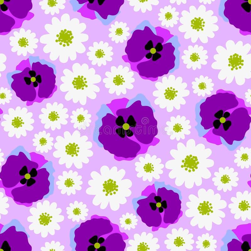 Vector naadloos patroon met bloemgebied vector illustratie