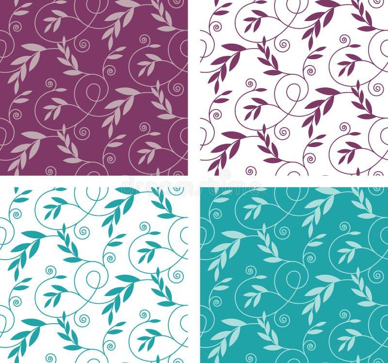 Vector Naadloos Patroon met Brandes en Bladeren royalty-vrije stock afbeeldingen