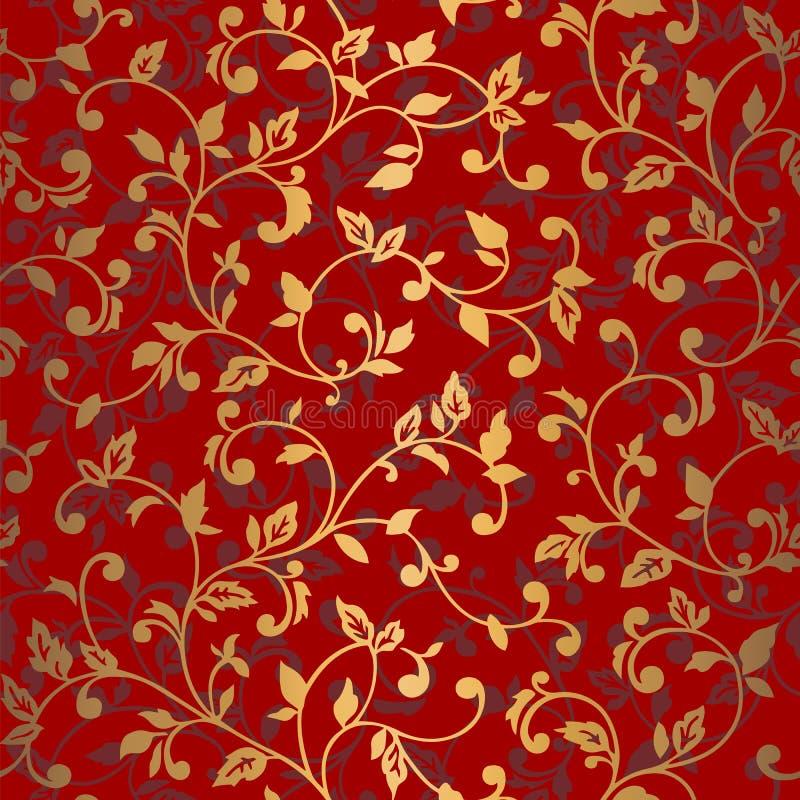 Vector naadloos patroon met de lentetakken Decoratieve achtergrond voor voor het ontwerp van oppervlakten, textiel, behang, prent vector illustratie
