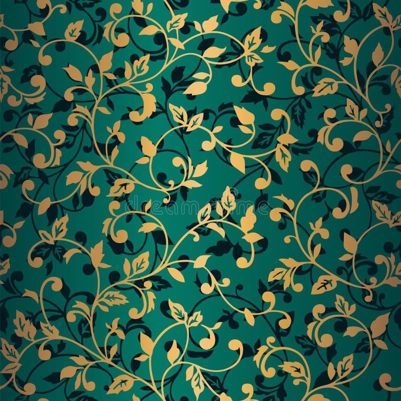 Vector naadloos patroon met de lentetakken Decoratieve achtergrond voor voor het ontwerp van oppervlakten, textiel, behang, prent stock illustratie
