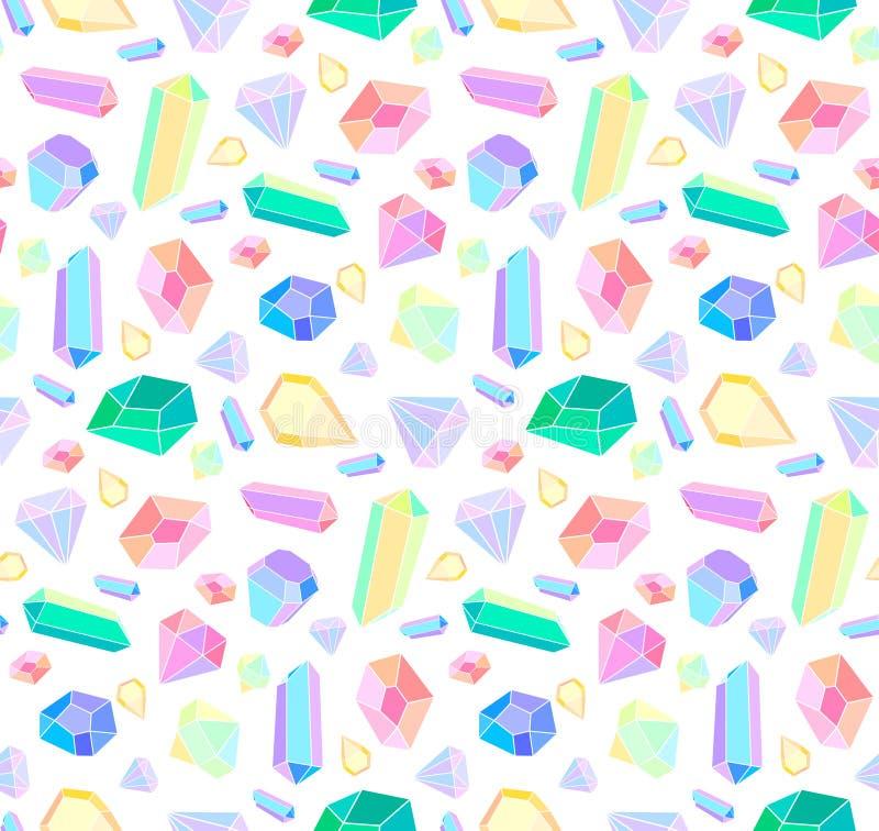 Vector naadloos patroon met diamanten en juwelen vector illustratie
