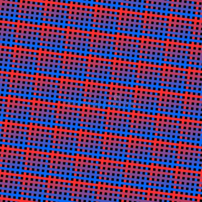 Vector naadloos patroon met dunne lijnen, strepen, vierkanten Retro 80-jaren '90 stijl stock illustratie