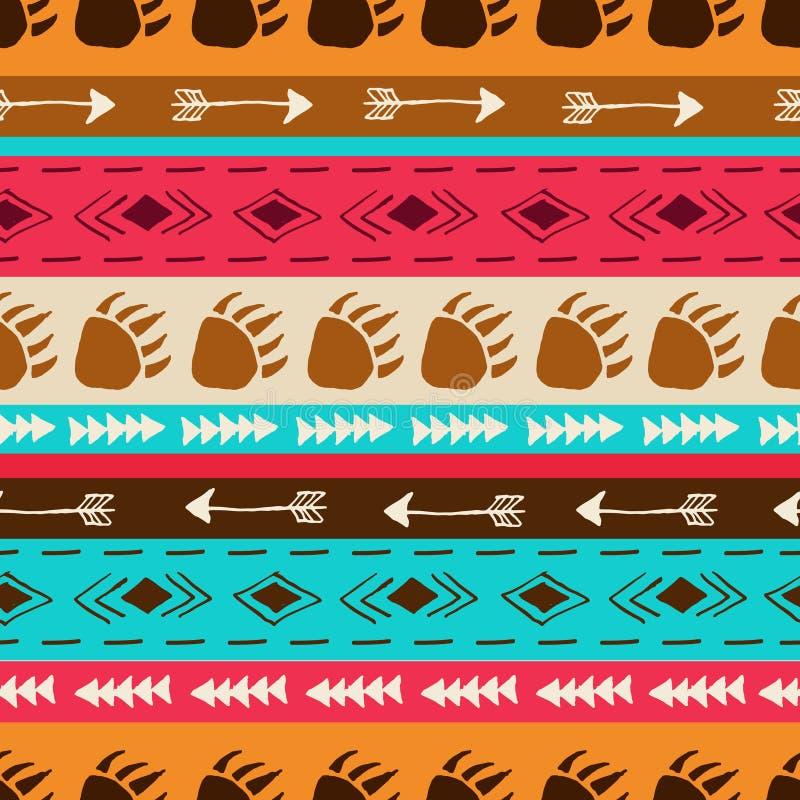 Vector naadloos patroon met etnische elementen vector illustratie