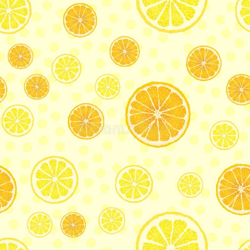 Vector naadloos patroon met fruitplakken royalty-vrije illustratie