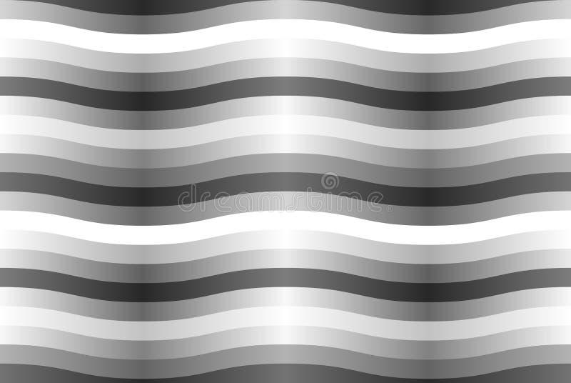 Vector naadloos patroon met grijze golvende stroken. stock fotografie