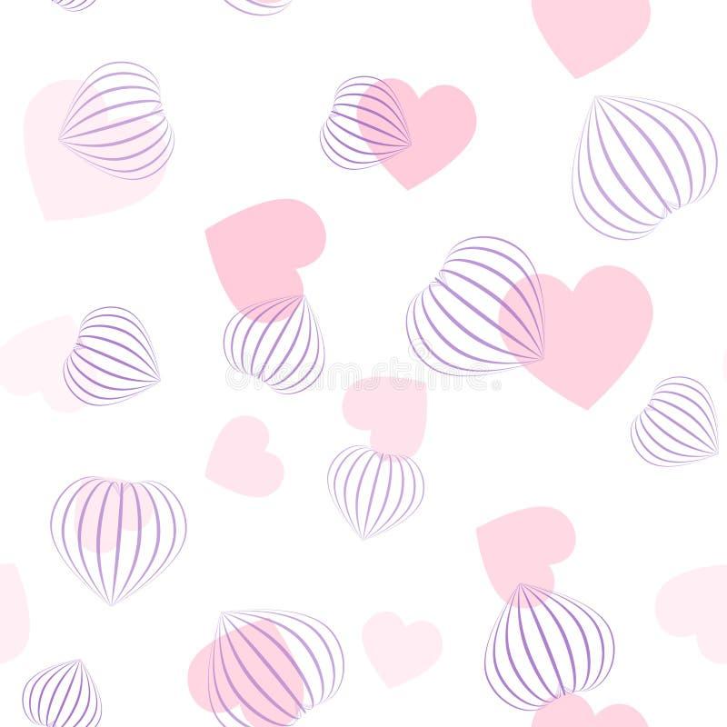 Vector naadloos patroon met harten   vector illustratie