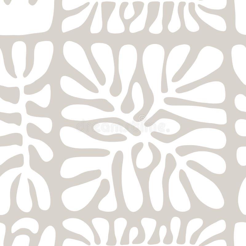 Vector naadloos patroon met inbegrip van etnische Australische beweging veroorzakend met typische elementen stock illustratie