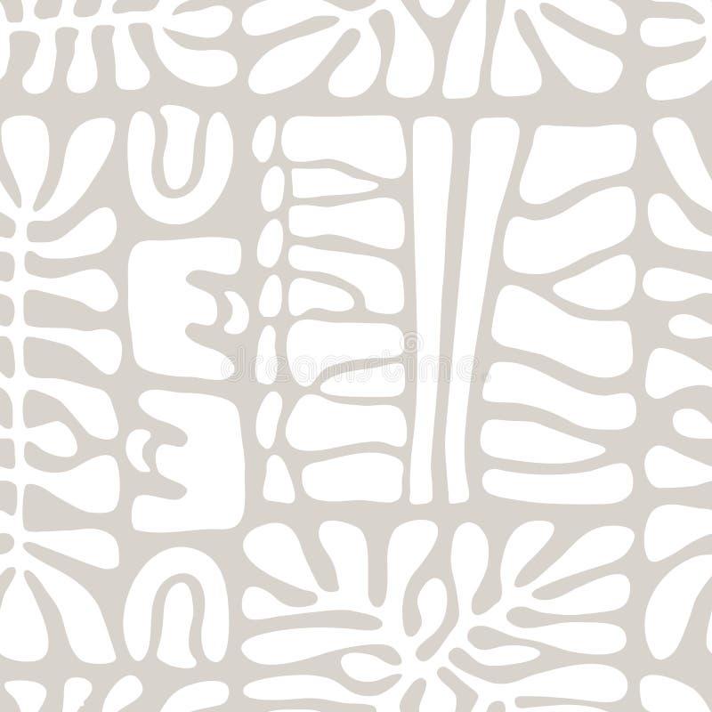 Vector naadloos patroon met inbegrip van etnische Australische beweging veroorzakend met typische elementen royalty-vrije illustratie
