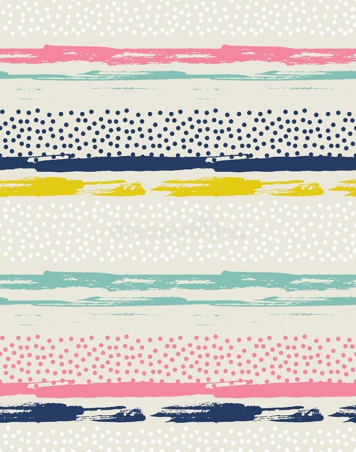 Vector naadloos patroon met kleurrijke punten stock illustratie