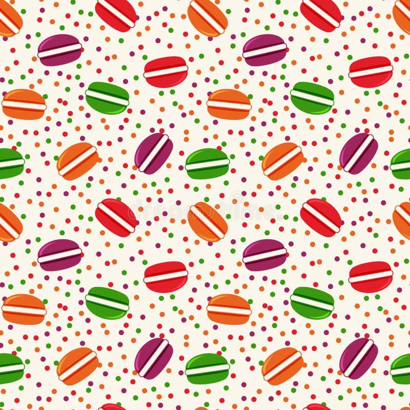 Vector naadloos patroon met makarons royalty-vrije illustratie