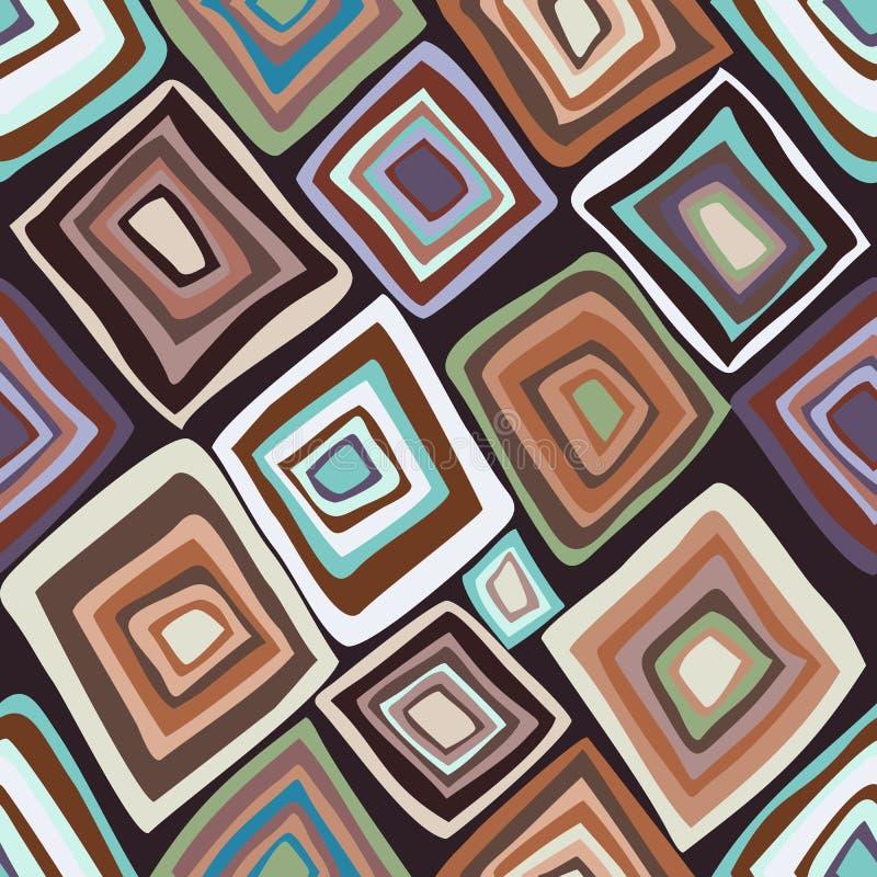 Vector naadloos patroon met multicolored diamanten royalty-vrije illustratie