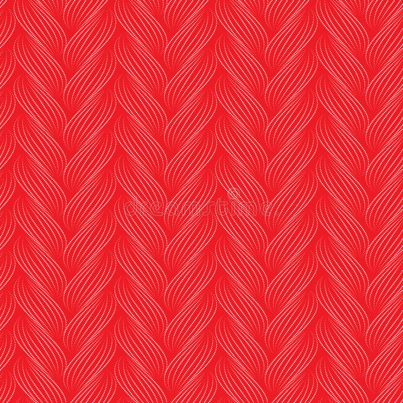Vector naadloos patroon met vlechten Textuur van garen met het close-up van gestippelde lijnvlechten Abstracte sierachtergrond Ei stock illustratie