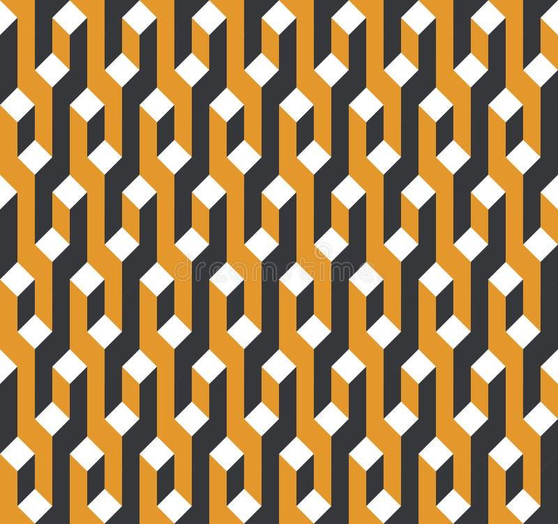 Vector naadloos patroon Moderne modieuze abstracte textuur royalty-vrije illustratie