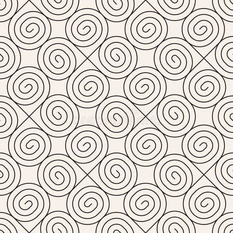 Vector naadloos patroon Moderne modieuze abstracte textuur Geometrisch herhalen royalty-vrije illustratie