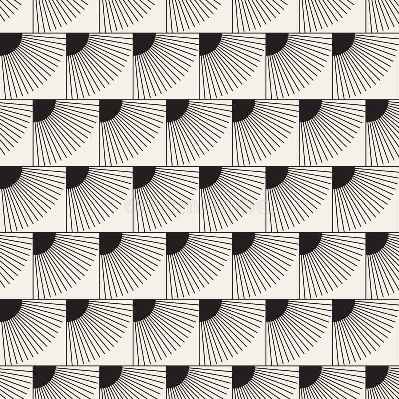 Vector naadloos patroon Moderne modieuze abstracte textuur Het herhalen van geometrische tegels royalty-vrije stock afbeelding