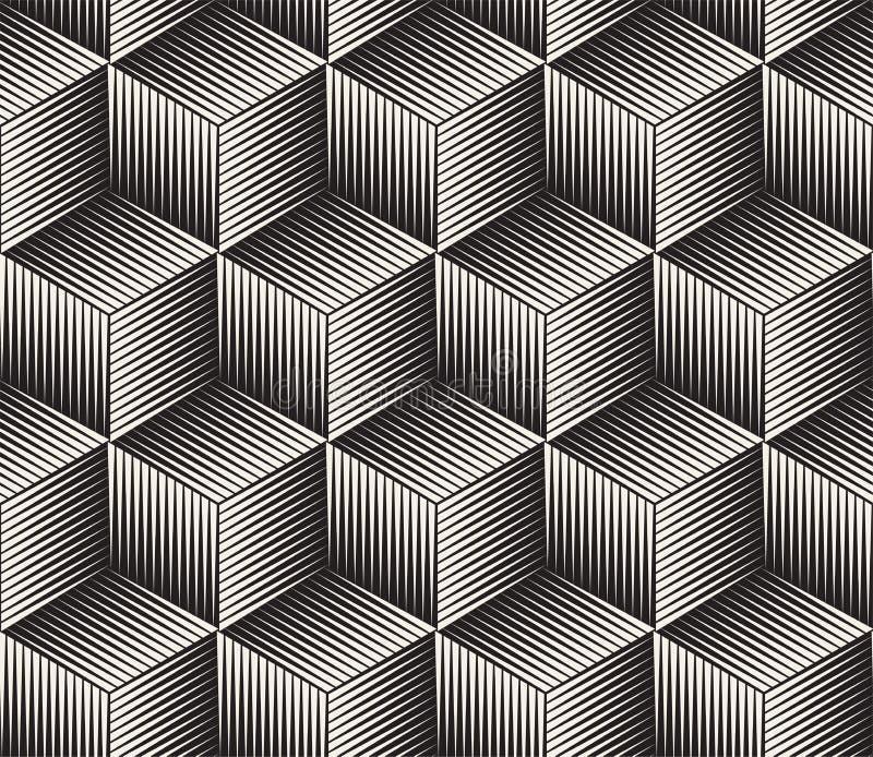 Vector naadloos patroon Moderne modieuze abstracte textuur Het herhalen van geometrische tegels stock foto's