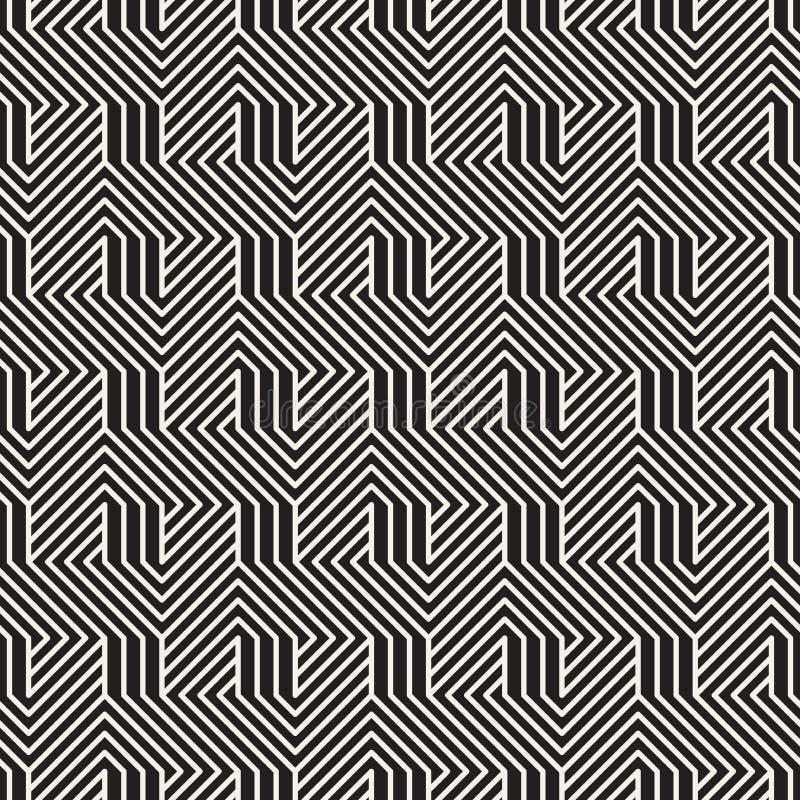 Vector naadloos patroon Moderne modieuze abstracte textuur Het herhalen van geometrische tegels stock foto