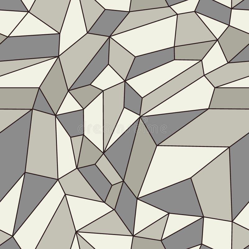 Vector naadloos patroon Modieuze mozaïektextuur Lineaire achtergrond met structuur van netwerk stock illustratie