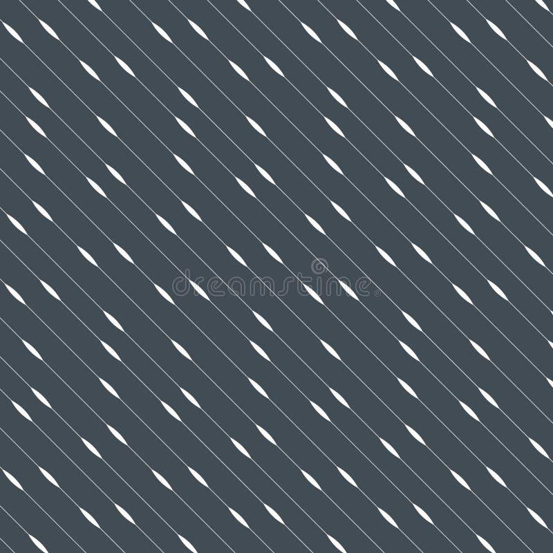 Vector naadloos patroon Onregelmatige abstracte dunne diagonale strepen Eigentijdse grafische textuur royalty-vrije illustratie